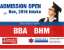 Admission Open November, 2016 Intake